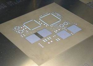 Step-up stencil for Ceramic BGA